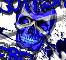Scottish Rebel Skull Design  Sticker
