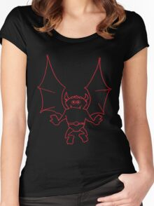 Happy Gargoyle (black/red) Women's Fitted Scoop T-Shirt