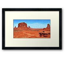 His Land Framed Print