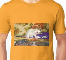 Kitten playing Unisex T-Shirt