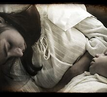 Sleeping Mother and Child by Ellen Cotton