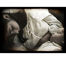 Sleeping Mother and Child Photographic Print