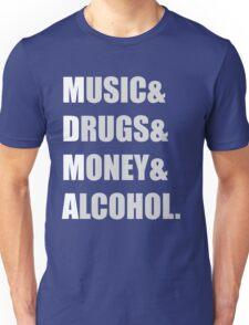 MDMA - Music & Drugs & Money & Alcohol  Unisex T-Shirt