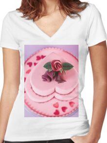 Wedding cake Women's Fitted V-Neck T-Shirt