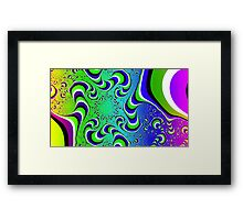 Optical Illusion - Colour Waves Framed Print