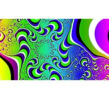 Optical Illusion - Colour Waves Photographic Print