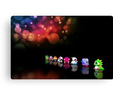 Bubble Bobble retro gaming pixel art Canvas Print
