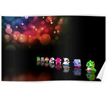 Bubble Bobble retro gaming pixel art Poster