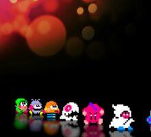 Bubble Bobble retro gaming pixel art Sticker