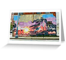 Mural on the wall 4 Greeting Card