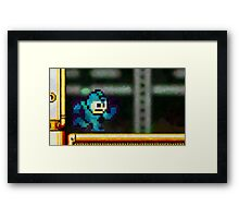 Mega Man retro painted pixel art Framed Print