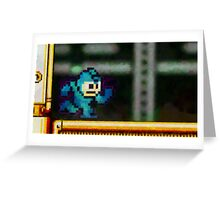 Mega Man retro painted pixel art Greeting Card
