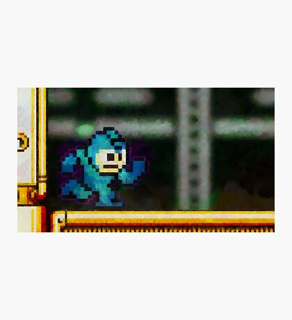 Mega Man retro painted pixel art Photographic Print
