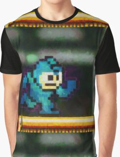 Mega Man retro painted pixel art Graphic T-Shirt