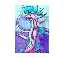 Salacia The Water Dragon Art Print