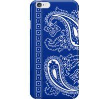 Blue and White Paisley Bandana  iPhone Case/Skin