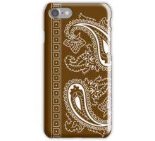 Brown and White Paisley Bandana  iPhone Case/Skin