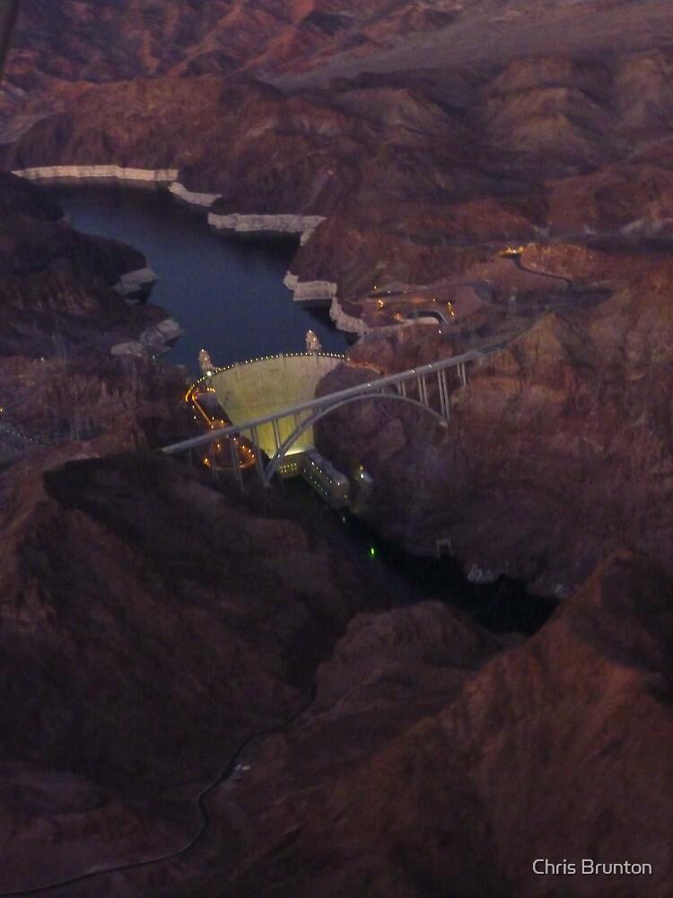 Hover Dam at night by Chris Brunton