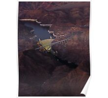 Hover Dam at night Poster