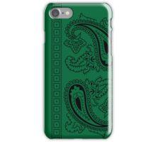 Dark Green and Black Paisley Bandana  iPhone Case/Skin