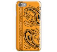 Orange and Black Paisley Bandana   iPhone Case/Skin