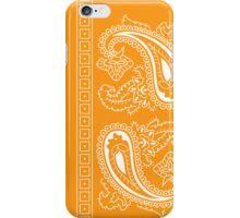 Orange and White Paisley Bandana   iPhone Case/Skin