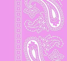 Pink and White Paisley Bandana   by ShowYourPRIDE