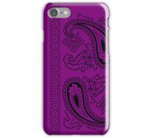 Purple and Black Paisley Bandana   iPhone Case/Skin