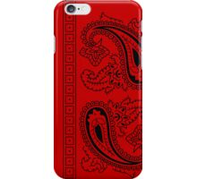 Red and Black Paisley Bandana   iPhone Case/Skin