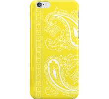 Yellow and White Paisley Bandana   iPhone Case/Skin