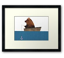 Cheltenham the Bear: Fishing Trip Framed Print