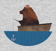 Cheltenham the Bear: Fishing Trip One Piece - Short Sleeve