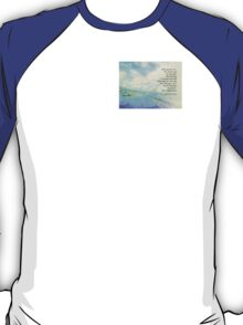Serenity Prayer Clouds and Highway T-Shirt