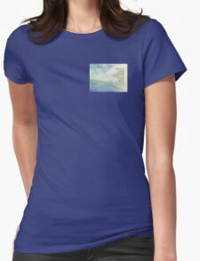 Serenity Prayer Clouds and Highway Womens Fitted T-Shirt