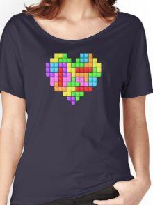 Tetris heart Women's Relaxed Fit T-Shirt