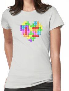 Tetris heart Womens Fitted T-Shirt