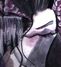 Geisha in Wisteria: The Timid Concubine Sticker