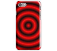 Red 3D Hoops  iPhone Case/Skin