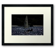 Sailing In The Sparkling Waters Framed Print
