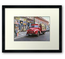 "Morris ""Corona soft drinks"" lorry. Framed Print"