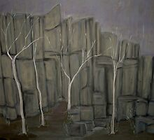 Winter's Edge - The Old Quarry by Karen Gingell
