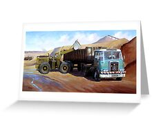 Atkinson bulk tipper. Greeting Card