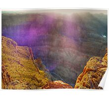 Purple haze - catching the sunset at the Grand Canyon Poster