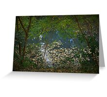 Autumn Pond on Lobethal Road Greeting Card