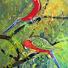 king parrots by Audrey  Russill