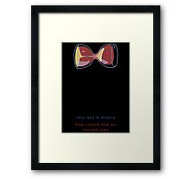 Doctor Who's Bowtie Framed Print
