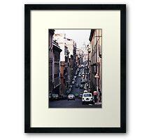 Rome Street Framed Print