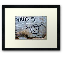 I heart me! Framed Print