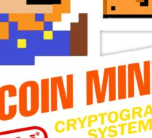 Bitcoin Geek Nintendo Gaming Funny Mario Mashup  Sticker