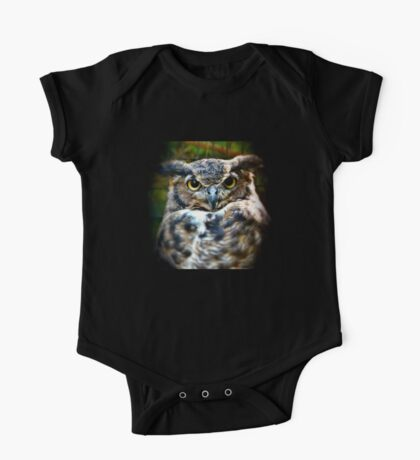 The Great Horned Owl One Piece - Short Sleeve